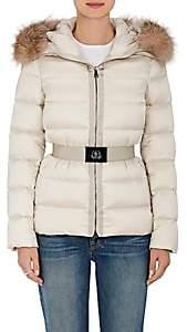 Moncler Women's Tatie Fur-Trimmed Down Coat-Open Beige
