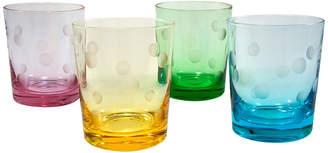 Artland Polka Dot Set Of 4 12Oz Dof Glasses