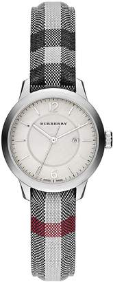 Burberry Women's Diamond, Stainless Steel & Leather Strap Watch