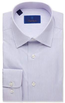 David Donahue Men's Regular-Fit Framed Stripe Dress Shirt