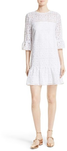 Kate Spade Women's Kate Spade New York Flounce Lace Shift Dress