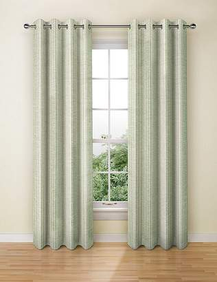 Marks and Spencer Wide Stripe Eyelet Curtains