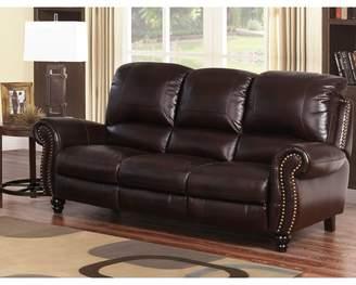 Williston Forge Tanguay Leather Reclining Sofa