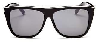 Saint Laurent Men's Flat Top Square Sunglasses, 57mm