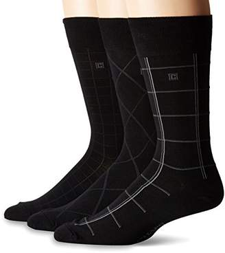Chaps Men's Assorted Classic Fashion Pattern Dress Crew Socks (3 Pack)