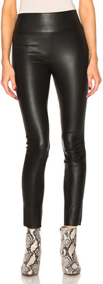 Sprwmn High Waist Leather Ankle Leggings