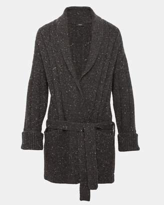 Theory Merino Wool Blend Belted Cardigan