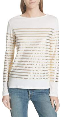 Majestic Filatures Boxy Stripe Top