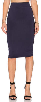Blq Basiq Navy Pencil Skirt