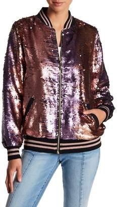 True Religion Pailette Sequins Bomber Jacket