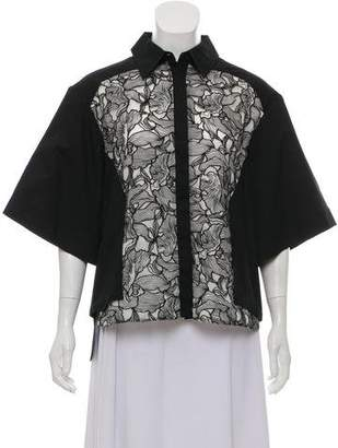 Petar Petrov Embroidered Long Sleeve Top w/ Tags