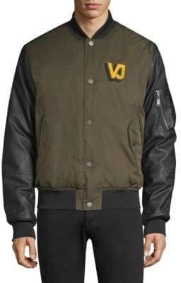 Versace Contrast Sleeve Bomber Jacket