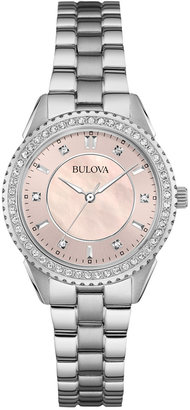 Bulova Women's Stainless Steel Bracelet Watch 30mm 96L218 $299 thestylecure.com