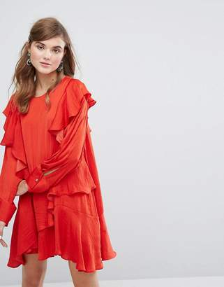 Sister Jane Long Sleeve Dress With Frills