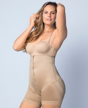 Leonisa Latex Strapless Bodysuit With Booty Booster