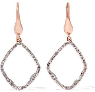 Monica Vinader Riva Rose Gold Vermeil Diamond Earrings - one size
