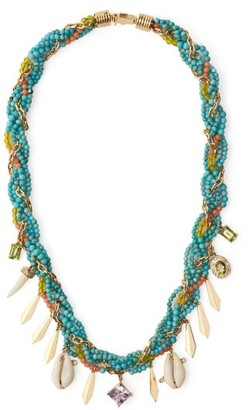 Hirsch Aron & Braided Turquoise, Diamond & Amethyst Necklace - Womens - Blue