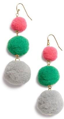 Women's Panacea Pompom Drop Earrings $22 thestylecure.com