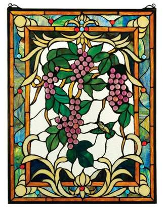 Toscano Design The Grape Vineyard Stained Glass Window