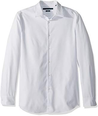 Perry Ellis Men's Slim Fit Solid Stretch Dress Shirt