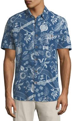 Faherty Men's Coast Floral-Print Short-Sleeve Sport Shirt