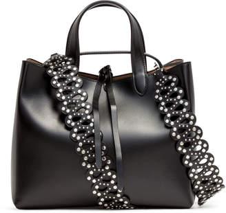Alaia Black Leather Tote Bag