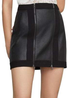 e64fe528e2 BCBGMAXAZRIA Roxy Faux-Leather Mini Skirt