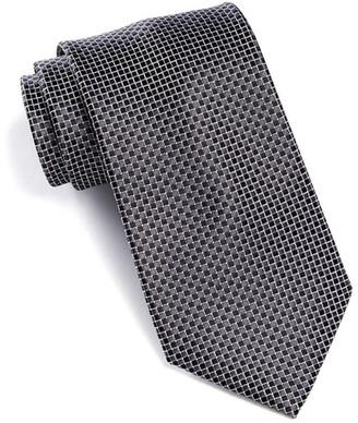 Nordstrom Rack Saville Mini Check Silk Tie $14.97 thestylecure.com