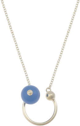 Oliver Bonas Dreamy Round Stone & Sphere Gold Plated Pendant Necklace