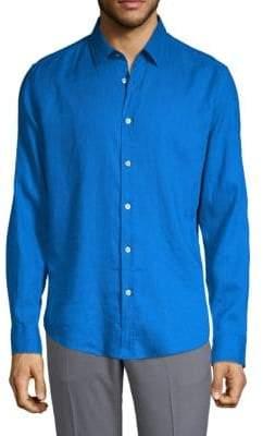 HUGO BOSS Slim-Fit Linen Button-Down Shirt