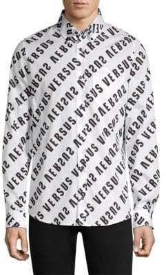 Versus By Versace Graphic Button-Down Shirt