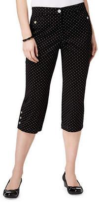 Karen Scott Fun Dot Capri Pants