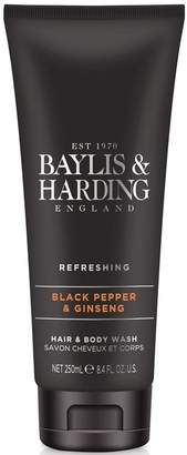 Baylis & Harding Black Pepper & Ginseng Hair & Body Wash 250ml - Nude