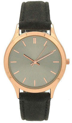 OLIVIA PRATT Olivia Pratt Velvet Womens Gray Strap Watch-17459grey/Rose