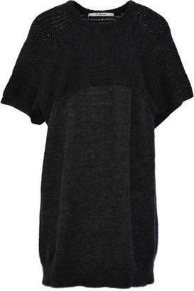 Chalayan Paneled Open-Knit Sweater