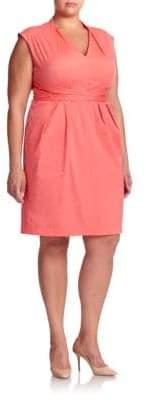 Lafayette 148 New York Plus Corrine Wrap-Tie Dress