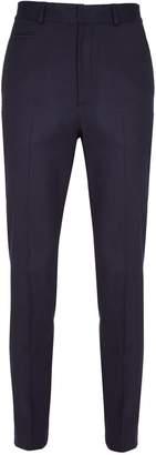 Blend of America He & DeFeber - Dark Navy Virgin Wool Straight Leg Tailored Trousers