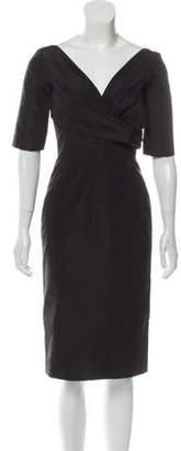 Alexander McQueen Silk Tonal Dress