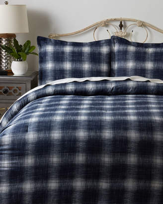 Tommy Hilfiger Tonal Navy Ombre Plaid Comforter Set