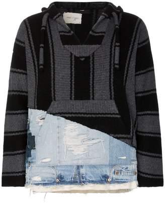 Alanui X GL Ibaja patch knitted hoodie