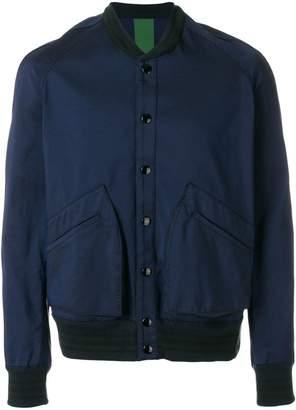 Golden Goose contrast-hem bomber jacket