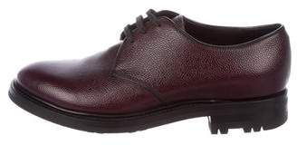 Prada Pebbled Leather Derby Shoes