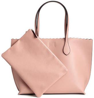 H&M Shopper with Clutch Bag - Orange