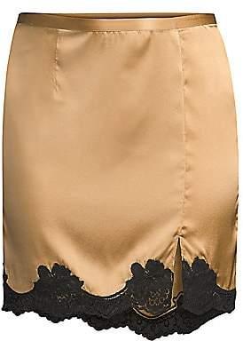 Fleur Du Mal Women's James Lace Silk Slip