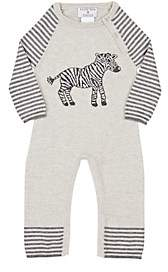 Lucky Jade Infants' Zebra Coverall-Gray