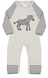 Lucky Jade Infants' Zebra Coverall - Gray
