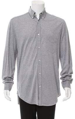 Brunello Cucinelli Knit Button-Up Shirt
