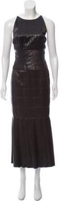Chanel Silk Maxi Dress w/ Tags Green Silk Maxi Dress w/ Tags