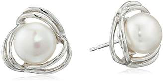 Bella Pearl Silver Pearl Stud Ball Earrings