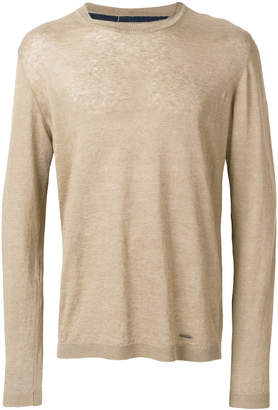 Woolrich long-sleeve fitted sweater